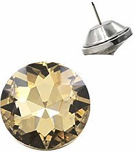 Crystal Upholstery Buttons with Metal Loop Base