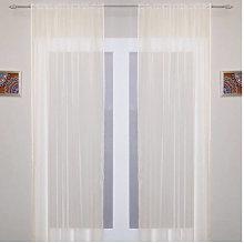Crystal Voile Panel Curtain in Cream 145cm x 229cm