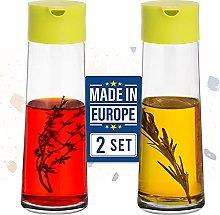 Crystalia Glass Oil and Vinegar Dispenser Set for