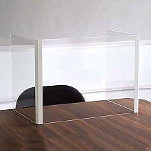 CRZ Desk Sneeze Shield, Transparent Acrylic