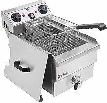 CSAO 8L Stainless Steel Deep Fryer, Faucet