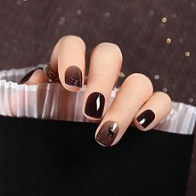 "CSCH False Nails""24pcs Translucent Black Moose"