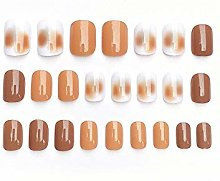 CSCH False Nails 24pcs Sweet Color Girl Decoration