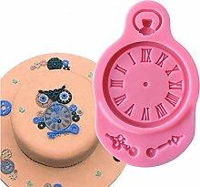 CSCZL Silicone Mold Fondant Cake Mould Clock