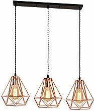 CSDM.AI Bedroom Ceiling Lights Rose Gold, 3 Lights