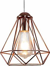 CSDM.AI Bedroom Ceiling Lights Rose Gold, Cage
