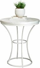CSQ Sofa Side Table, Marble Small Round Table