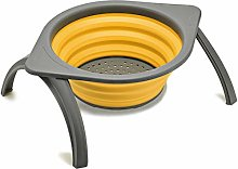 cthseie Collapsible Colander with Stand and