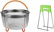 Cuasting Steel Steamer Basket Set,Instant-Pot