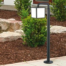 Cubango LED path light with a cubic lampshade
