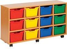 Cubby Tray Storage Unit With 12 Trays,