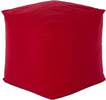 Cube Bean Bag Chair Freeport Park Upholstery: Red