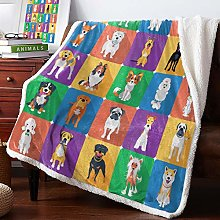 Cube Puppy Velvet Home Sofa Watching Blanket