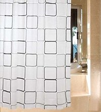 Cube Square Shower Curtains, Bathroom Wet Room
