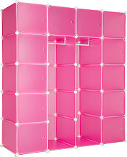 Cube storage unit Anita - pink