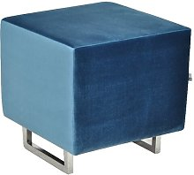Cubi Footstool Happy Barok Upholstery: Blue