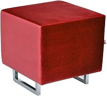 Cubi Footstool Happy Barok Upholstery: Red