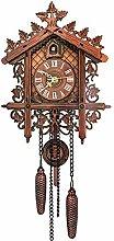 Cuckoo Clock,Antique Wooden Cuckoo Wall Clock Bird