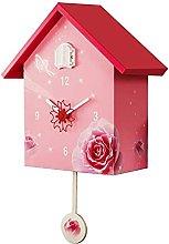 Cuckoo Clock Birdhouse Wall Clock, Pendulum Home