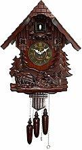 Cuckoo Clock, German Black Forest Wooden Cuckoo
