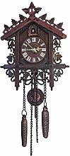Cuckoo Clock, Handcrafted Wooden Quartz Cuckoo