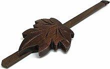 Cuckoo Clock Maple Leaf Pendulum Brown Wood
