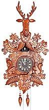 Cuckoo Clock Quartz Deer Head for Wall, Antique