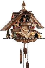 Cuckoo clock, real wood, battery operated quartz