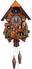 Cuckoo Clock -Solid Wood Carved Wall Clock Painted