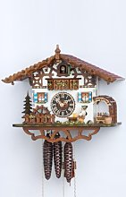 Cuckoo Clock Swiss house with moving beer drinker