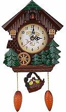 Cuckoo Clock Tree House Wall Clock Art Vintage