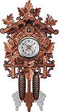 Cuckoo Clock Wooden Bird Patterned Wall Clock,