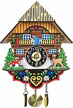 Cuckoo Palace Large Clock Moving Black Forest