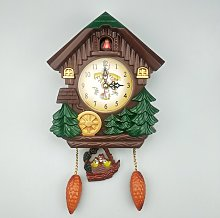 Cuckoo Shaped House Wall Clock Creative Retro Bird