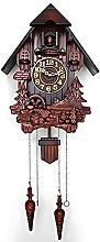 Cuckoo Wall Clock, Wooden Clock Retro Alarm Clock