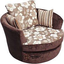 Cuddler Swivel Chair   Snuggle Swivel Armchair