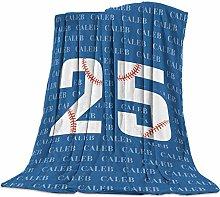 Cuddly Blanket Baseball Blue Number 25 Blanket