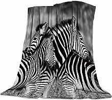 Cuddly Blanket Black and White Stripes of the