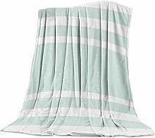 Cuddly Blanket Green Geometric Stripes Blanket
