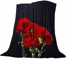 Cuddly Blanket Red Carnation Blanket Microfibre