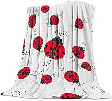 Cuddly Blanket Red Ladybird Blanket Microfibre