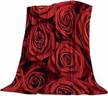Cuddly Blanket Red Rose Blanket Microfibre Blanket