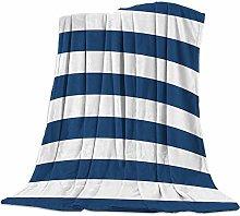 Cuddly Blanket Striped Blue Blanket Microfibre