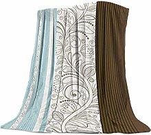 Cuddly Blanket Vintage Floral Blue Blanket