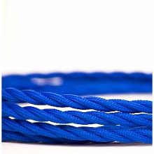 Cuemars - Navy Blue Lighting Fabric Cable - Blue