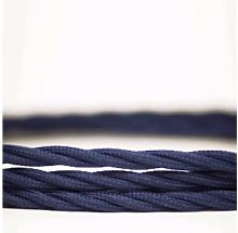 Cuemars - Ocean Blue Twisted Lighting Fabric Cable