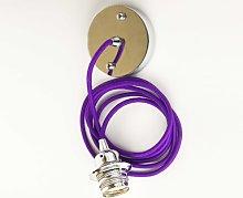 Cuemars - Purple Ceiling Rose Pendant Set - Purple