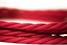 Cuemars - Red Burgundy Twisted Lighting Fabric