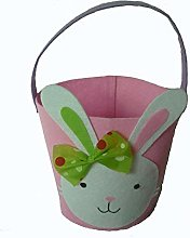 cuffslee 2PCS Easter Gift Bags Candy Basket Toy