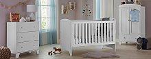 Cuggl Oxford 3 Piece Nursery Furniture Set - White